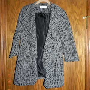 Women's Calvin Klein Grey/Black Open Cardigan
